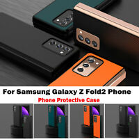 For Samsung Galaxy Z Fold2 Phone Ultra-thin Protective Case Leather Cover Shell