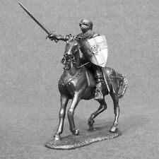 Medieval 1/32 Mounted Knight Horse Rider Metal Miniature Toy Tin Soldier 54mm