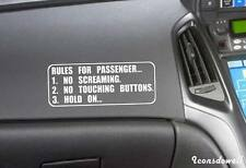 Rules for Passenger Funny Car Stickers ReflectiveTruck Boat Sticker Decals Gifts