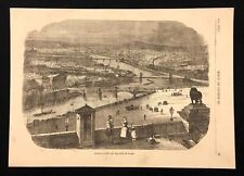 Antique 1873 Book Print/Plate GENERAL VIEW OF THE CITY OF PARIS