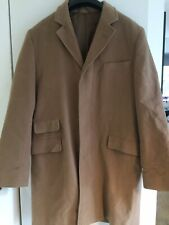 Mens French Connection Light Brown 3/4 Length Coat, Size Large
