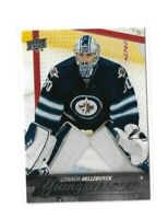 2015-16 UPPER DECK #214 CONNOR HELLEBUYCK YG RC UD YOUNG GUNS ROOKIE JETS