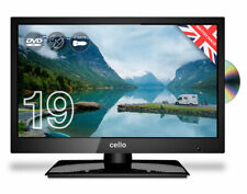 "CELLO 19"" INCH LED TV TRAVELLER 12v TV  DVD FREEVIEW HD  CARAVAN TV"