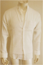 BNWT men cheese cloth gap shirt WHITE ,matching buttons long sleeveSize L