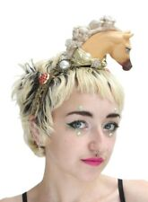 Festival Horse Pony Pom Pom Flower Crown Headdress Pastel Kawaii Gobbolino