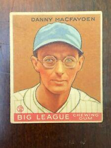 1933 Goudey  #156 Danny MacFayden