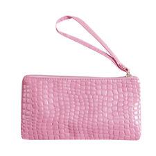 Women Crocodile Leather Coin Purse Clutch Wallet  Card Holder Phone Handbag