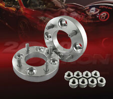 """2pcs 25mm (1"""") Thick 4x100 to 4x100 Wheel Adapters Spacers M12x1.25 Studs"""