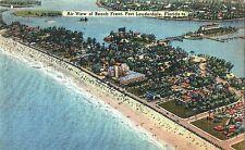 Postcard FL Florida Fort Lauderdale Air View of Beach Front Linen