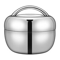 Double-layer Stainless Steel Thermal Insulated Lunch Box Food Container Bento