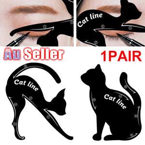 Cat Eyebrow Tool Makeup Model Eye Line Kit Eyeliner Stencil Liner vv Template
