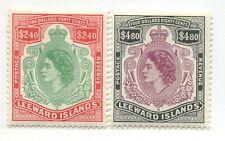 Leeward Islands QEII 1954 $2.40 & $4.80 mint o.g.