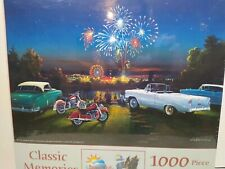 SunsOut Classic Memories motor antique cars 1000 piece jigsaw puzzle SEALED GIFT