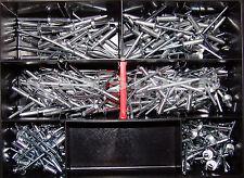 Blindnieten Sortiment Alu/Stahl 300 Teile Set Satz Din 7337 4,0 Popnieten