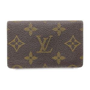 Louis Vuitton LV Card Case Pochette Cult Vie Jet M56362 Browns Monogram 1606160