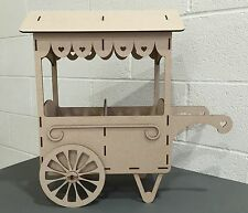 Y34 WEDDING DAY SWEET CANDY CART Trolley Party Unpainted MDF Table Display Stand