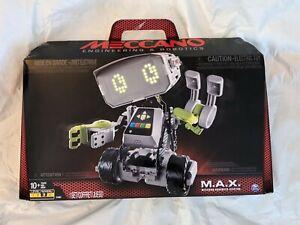 Meccano Advanced Xfactor M.A.X. MAX Robotic Interactive Toy Set NEW