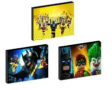 3 x LEGO BATMAN MOVIE CANVAS ART BLOCKS/ WALL ART PLAQUES/PICTURES