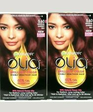 2 Garnier Olia Brilliant Color 5.60 Medium Garnet Red 60% Oil Permanent Hair Dye