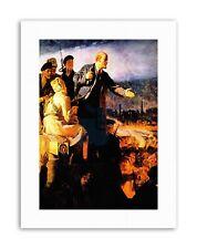 QUADRI rivoluzione russa LENIN dipinto Ritratto STAMPE SU TELA ART