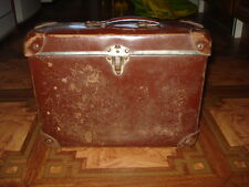 ANTIQUE HARD CARDBOARD CHILDS SCHOOL SUITCASE TRAVELING LUGGAGE MINI SUITCASE