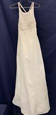 Wedding Gown Bridal Dress White Beaded Halter Top