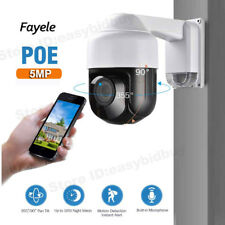 POE 5MP PTZ IP Camera HD 2592x1944 Pan/Tilt 4X Zoom Speed Dome Camera AudIo P2P