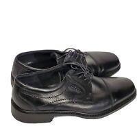 Ecco Black Leather Oxford Cap Toe Lace Up Dress Shoes Mens Size 43 US 9.5-10