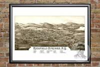 Vintage Richfield Springs, NY Map 1885 - Historic New York Art Victorian Era