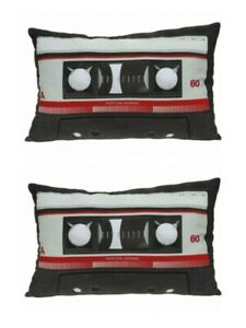 Retro Cassette Cushion Novelty Cushions 30cm x 45cm Tape Audio Pillow Plush NEW