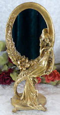 Kosmetikspiegel Schminkspiegel Spiegel Standspiegel gold Jugendstil Barock