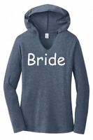 Bride Ladies Hoodie T-Shirt Wedding Tee Bachelorette Party Shirt Love Tee