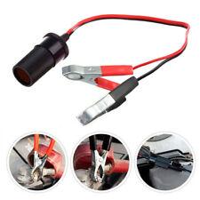 Car Cigarette Lighter Socket 12V Portable Power Plug Adapter Crocodile Clip'