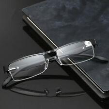 Half-rim Square Reading Glasses Reader Presbyopia +100 150 200 250 300 350 400