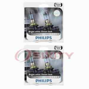 2 pc Philips Low Beam Headlight Bulbs for Honda Accord Civic CRX Odyssey gh