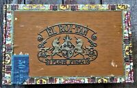 Vintage EL Roi-Tan Cigar Box With State of Oklahoma Tax Stamp.