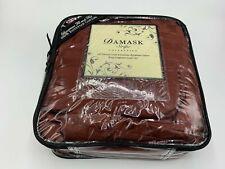 Damask Stripe Collection 500 Tread Count Luxurius Egiption Cotton King Comforter