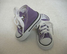 """Fits 16"""" Sasha or Gregor Doll - Purple High Top Sneakers - Shoes - D1292"""