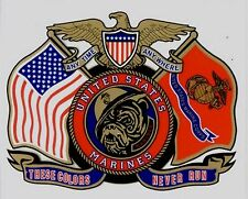 Us Marines - These Colors Never Run Decal