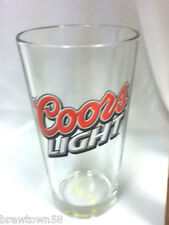 Coors Light beer glass bar glasses 1 drink barware bars Coor's Brewery pub UX8