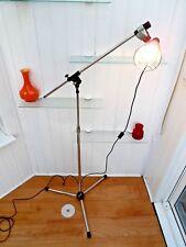 ADJUSTABLE FLOOR LAMP, Vintage 60's MECHANICS LIGHT, Retro BLACK & SILVER DECOR