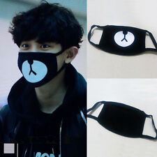 1pcs Lucky Bear Black Mouth Mask Kpop Cotton Black Bear Fashion Cute Style