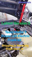 Tesla Model 3 Power Lift Electric Frunk~Version 5 (Titanium Red/Gray Struts)