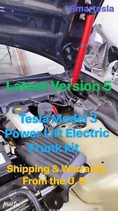 Tesla Model 3 Power Lift Electric Frunk~Version 5 (Titanium Red/Grey Struts)