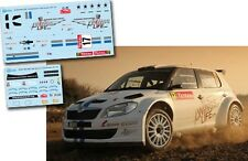 Decal 1:43 Kevin Abbring - SKODA FABIA S2000 - Rally Montecarlo 2012