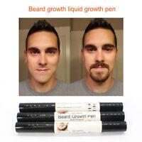 Natural Face Beard Mustache Sideburns Growth Enhancer Fast Grow Liquid Oil Pen
