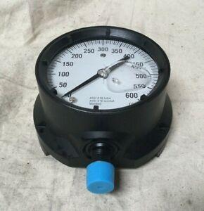 "Ashcroft 451379SSL04L600# 4-1/2"" General Purpose Pressure Gauge 0 to 600 psi"