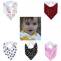 Kids Baby Feeding Head Scarf Towel Bib Boys Girl Bandana Saliva Triangle Dribble