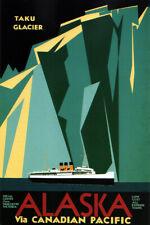 Alaska via Canadian Pacific Retro Travel Poster 12x18 inch