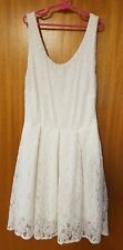 Forever New White Embroidery Floral Dress Size 8